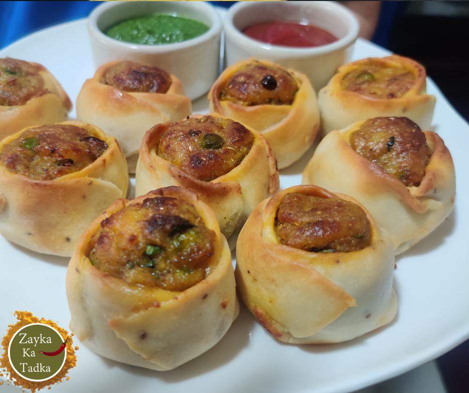 Open Pinwheel Samosa In Air Fryer Recipe