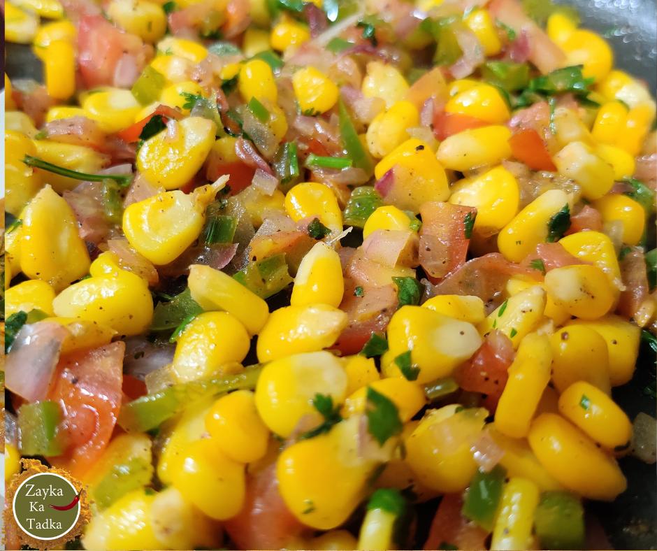 Instant Sweet Corn Chaat Recipe