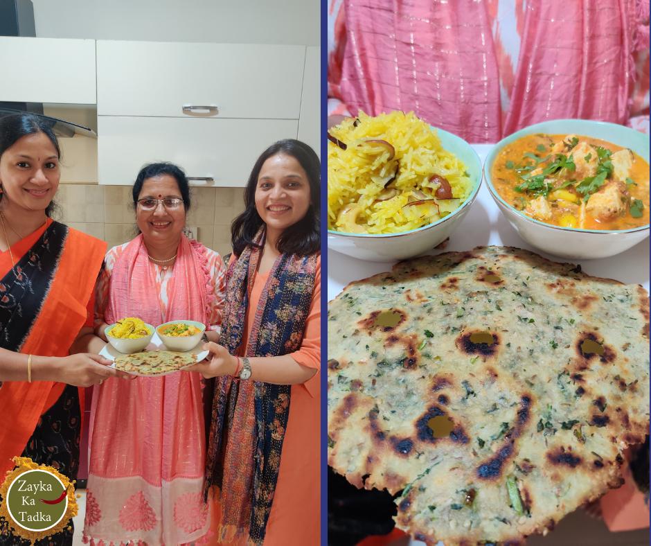 Akki Roti | Zarda Pulao | Paneer Sabji Recipe