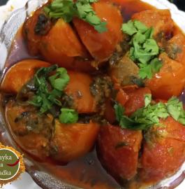 Methi Stuffed Tomato Recipe